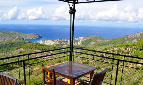 Restaurang Mirador norr om Soller, Mallorca