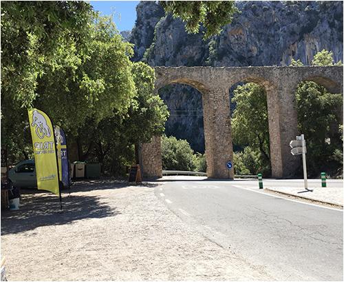 Vid avfarten till Sa Calobra i Tramuntanabergen, Mallorca