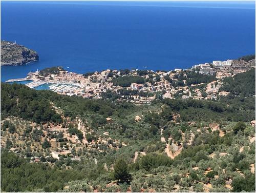 Utsikt ner mot Soller, Mallorca