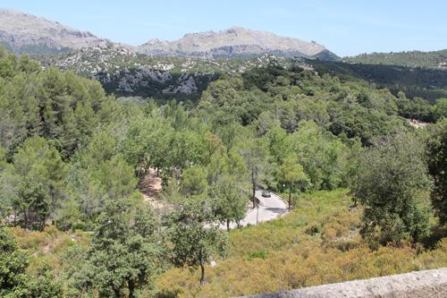 Precis innan avfart mot klostret Lluc, Mallorca