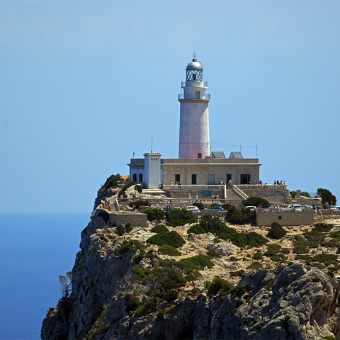 Fyren längst ute på Formentorhalvön