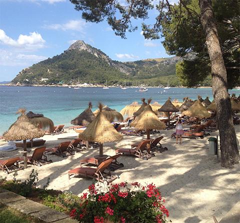 Vid Hotell Formentor